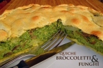 Torta Rustica Broccoletti e Funghi