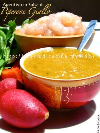 ricetta,ricette,cucina,foto,peperoni,code di gambero,ravanello,salsa di soia
