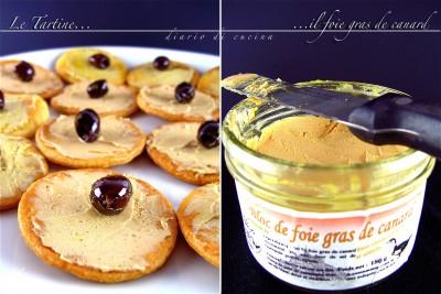 Tartine di foie gras de canard
