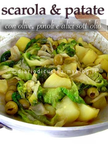 ricette,foto,fotografia,cucina,scarola,patate,olive